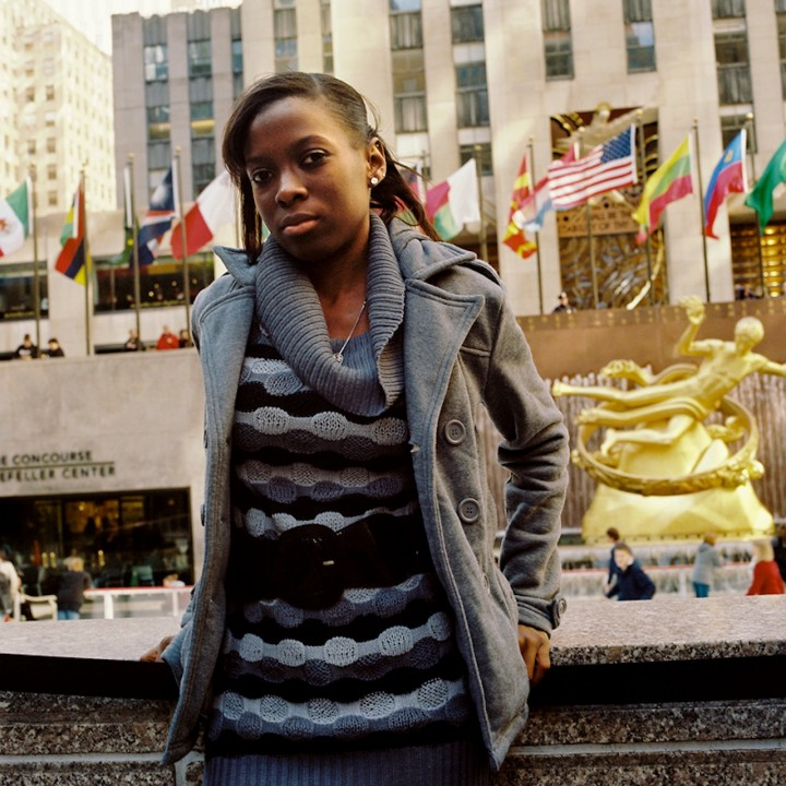 Dominique at Rockefeller Center.