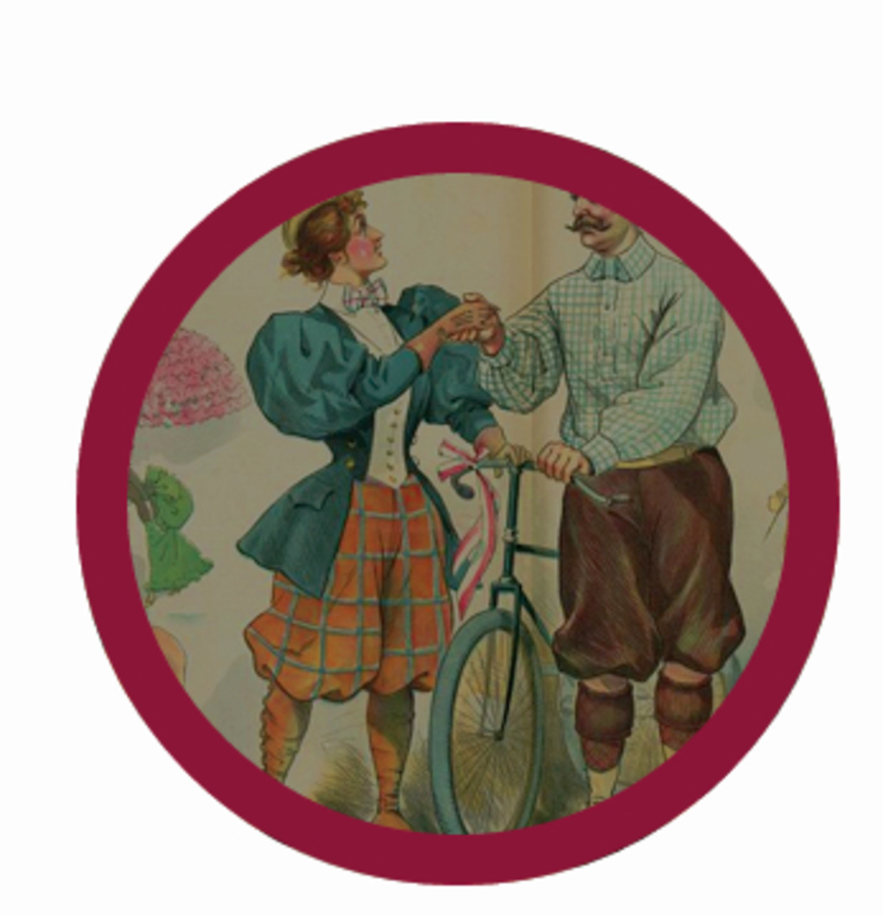 "Puck magazine in the 1890s depicted the female cyclists ""love life"" in many of their illustrations, often poking fun at it."
