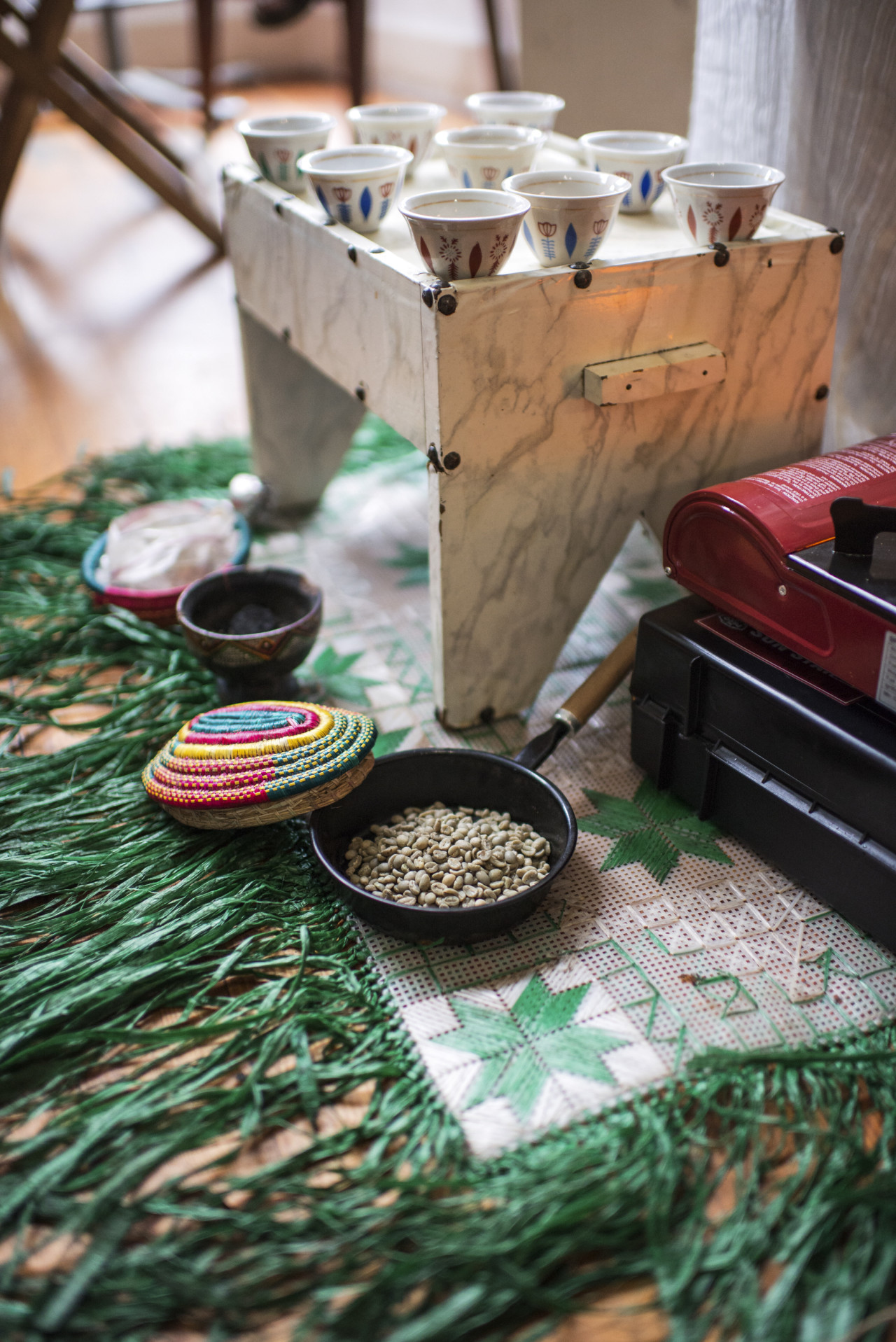 Coffee ceremony station