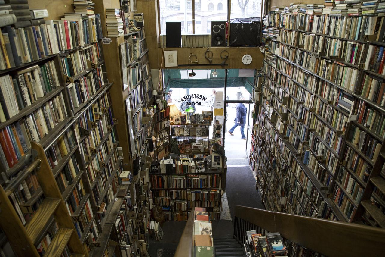 A view from the top floor of Westsider Books.