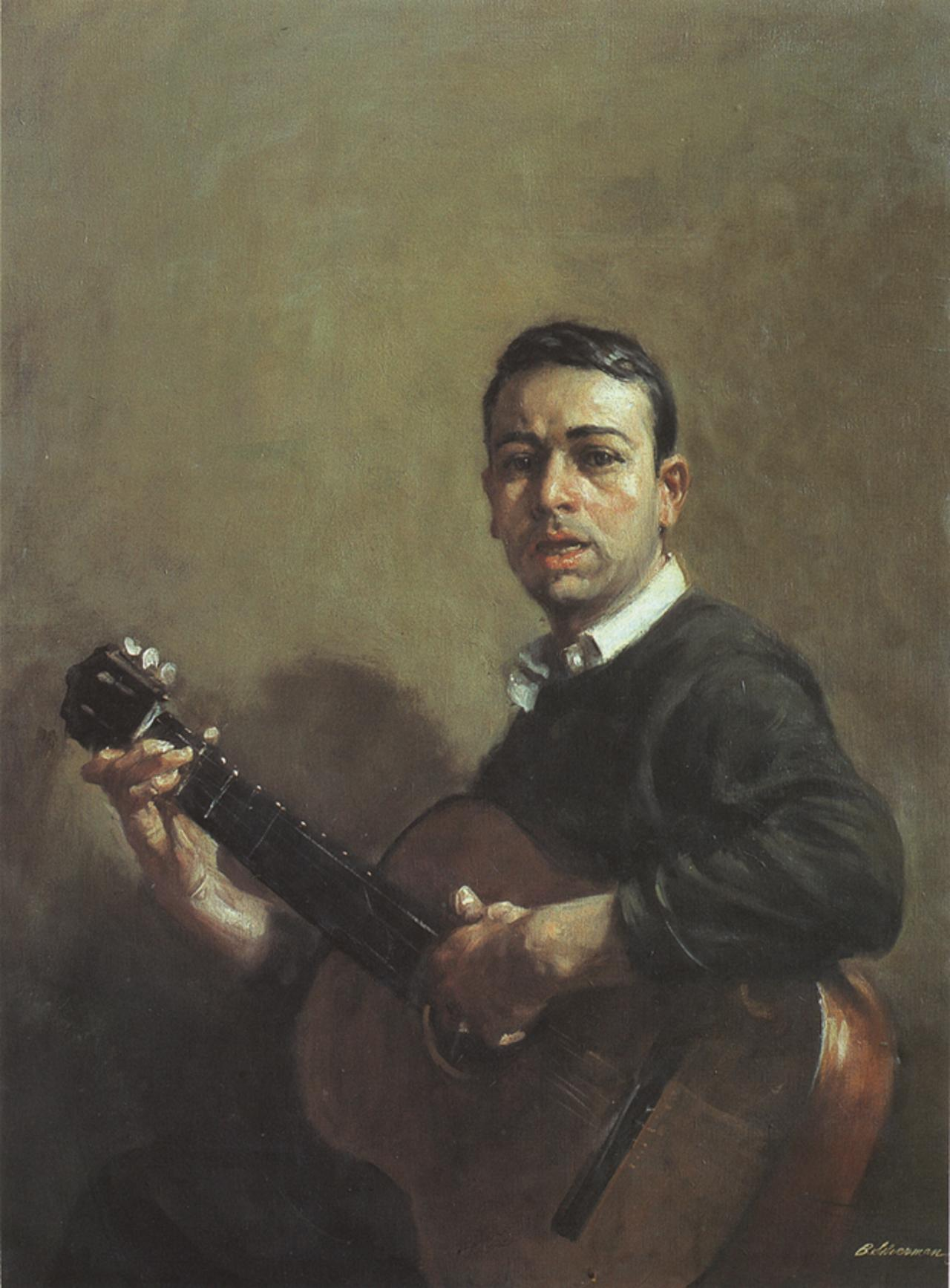 Self-portrait by Burton Silverman, 1959. (Image courtesy Silverman Studios Inc.)