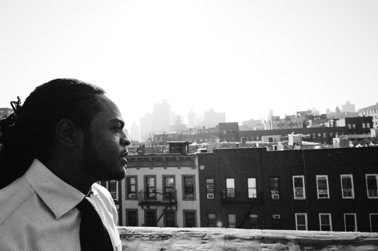 Alvin Valentine looks out from his favorite perch in Brooklyn.