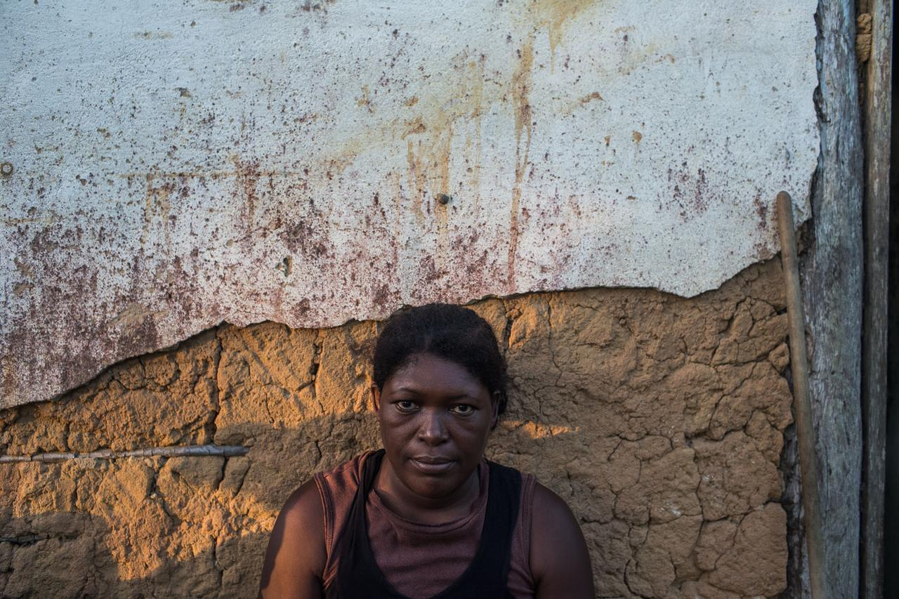 A woman of the Quilombo ethnic group, who are descendants of African slaves. According to the Federal Constitution of 1988, they have the right to land, but the area dedicated to these groups is very small.