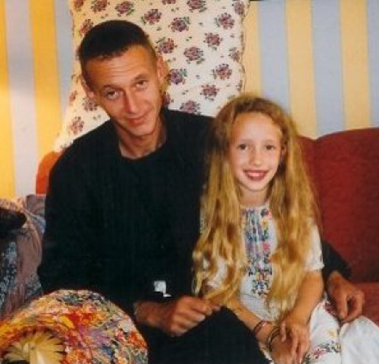 Lilly and her father in 1996.