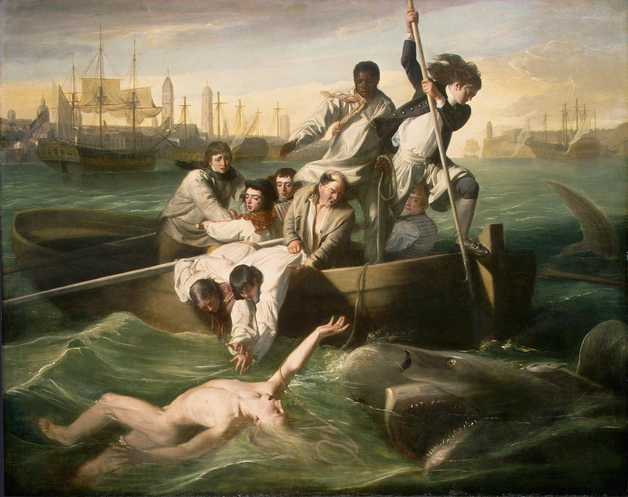 "John Singleton Copley's ""Watson and the Shark,"" 1778. Ferdinand Lammot Belin Fund, National Gallery of Art, Washington D.C."
