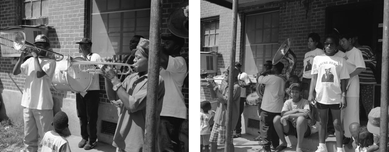A wake at Iberville Housing Project, 1994