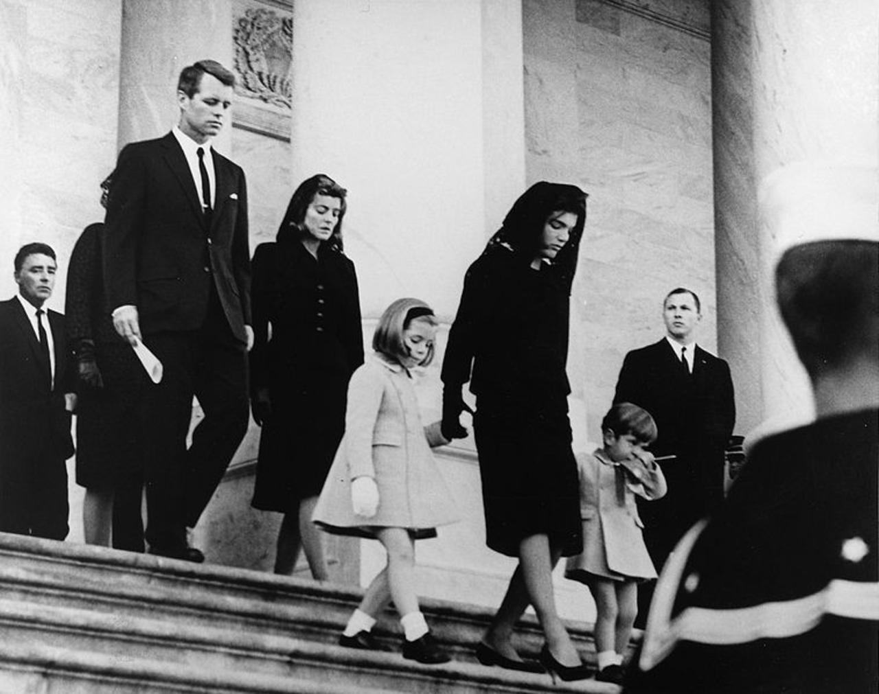 Jackie Kennedy, her children,and Robert F. Kennedy  leave the U.S. Capitol after John F. Kennedy's funeral on November 25, 1963. (Photo: Abbie Rowe White House Photographs)