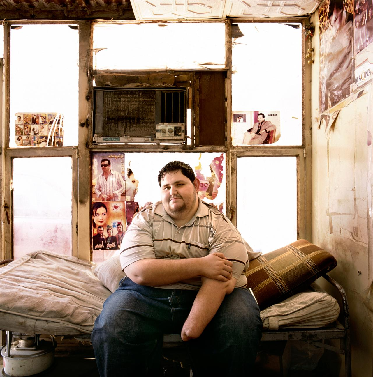 Khuder Hawakeem in his apartment, two days before his gastric bypass surgery. Click the photo for Khuder's full story.