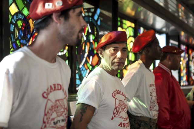Guardian Angels at the Broadway Junction Station in Brooklyn