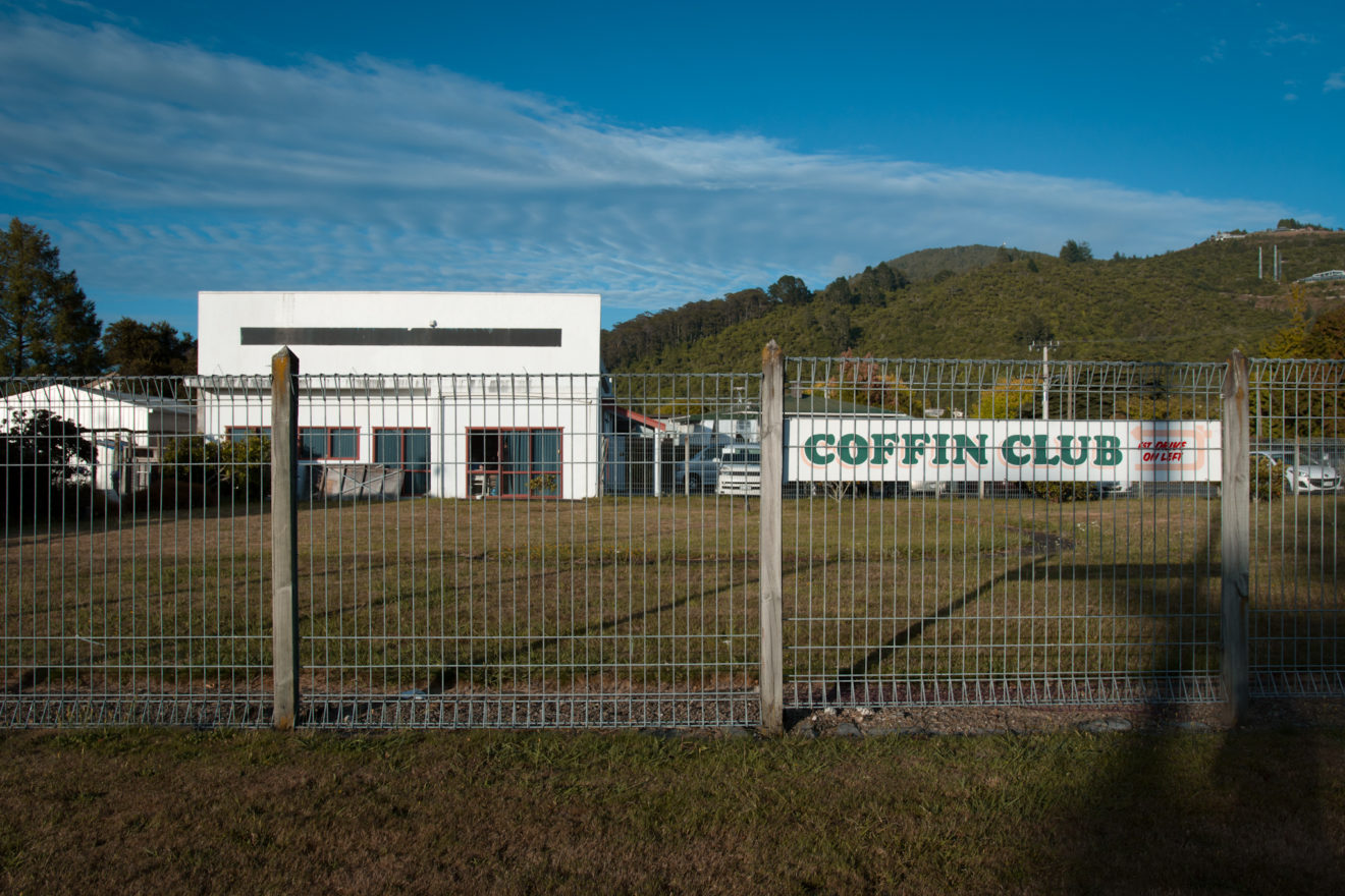 The Coffin Club as seen from the road.